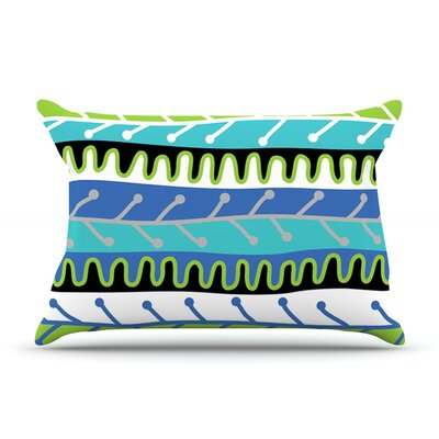 Jacqueline Milton Salsa - Blue Pillow Case Color: Blue/Green