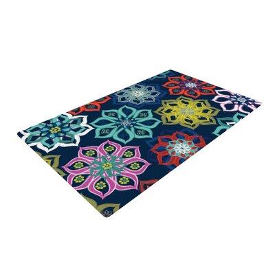 Jolene Heckman Multi Flower Pink/Blue Area Rug Rug Size: 2 x 3