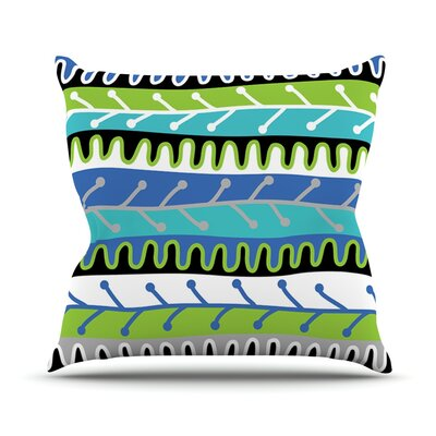 Salsa by Jacqueline Milton Throw Pillow Size: 16 H x 16 W x 3 D, Color: Blue