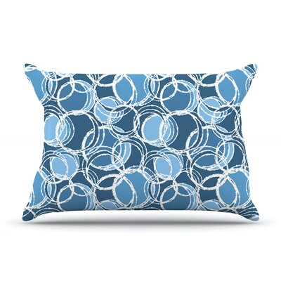 Julia Grifol Simple Circles In Blue Pillow Case