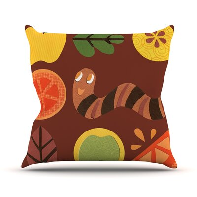 Autumn Repeat by Jane Smith Bugs Throw Pillow Size: 20 H x 20 W x 4 D