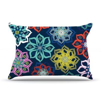 Jolene Heckman Multi Flower Rainbow Flowers Pillow Case