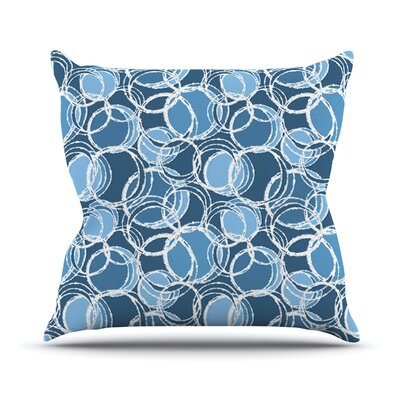 Simple by Julia Grifol Throw Pillow Size: 18 H x 18 W x 3 D, Color: Blue