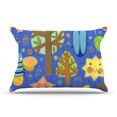 Lightning Bug by Jane Smith Featherweight Pillow Sham Size: King, Fabric: Woven Polyester