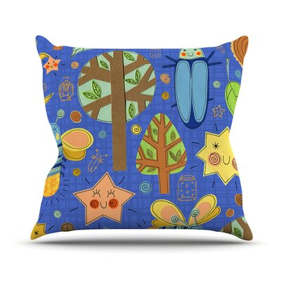 Lightning Bug by Jane Smith Throw Pillow Size: 16 H x 16 W x 3 D