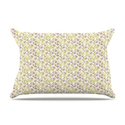 Rhapsody Vine by Julie Hamilton Featherweight Pillow Sham Size: King, Fabric: Woven Polyester