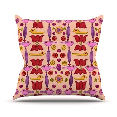 Indian Jewelry Repeat by Jane Smith Throw Pillow Size: 18 H x 18 W x 3 D