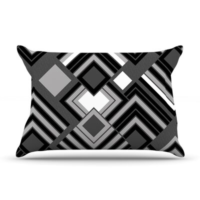 Jacqueline Milton Luca Pillow Case Color: Black/White