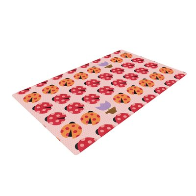 Jane Smith Seasons Spring Pink/Red Area Rug Rug Size: 4 x 6