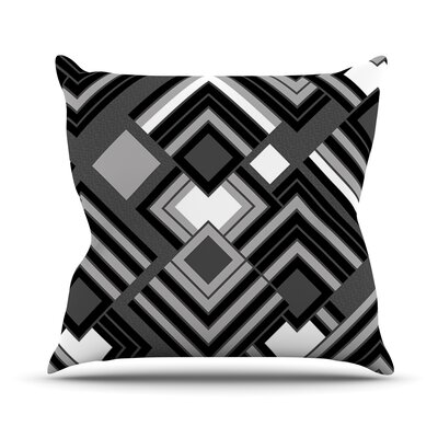 Luca by Jacqueline Milton Throw Pillow Size: 18 H x 18 W x 3 D, Color: Monochrome