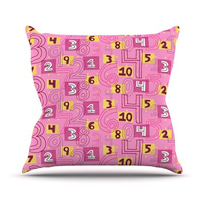 Vintage Playground II by Jane Smith Throw Pillow Size: 18 H x 18 W x 3 D