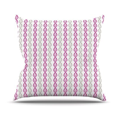 Plum Pod by Julie Hamilton Throw Pillow Size: 18 H x 18 W x 3 D