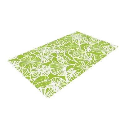 Jacqueline Milton Vine Shadow Floral Green/Lime Area Rug Rug Size: 4 x 6