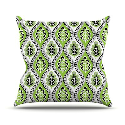 Oak Leaf by Jacqueline Milton Floral Throw Pillow Size: 16 H x 16 W x 3 D, Color: Green