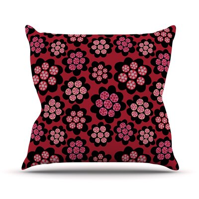 Garden Pods Repeat by Jane Smith Floral Throw Pillow Size: 16 H x 16 W x 3 D