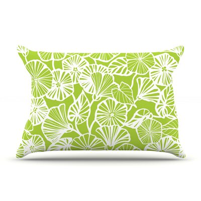 Jacqueline Milton Trumpet Vine Pillow Case Color: Lime/Green