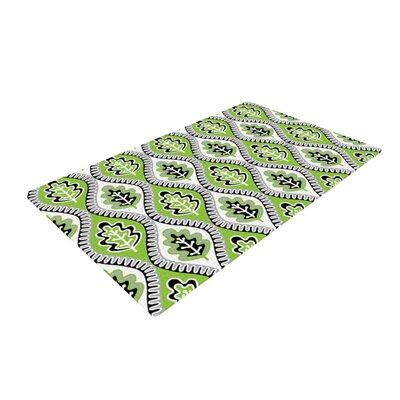 Jacqueline Milton Oak Leaf Floral Green/Lime Area Rug Rug Size: 4 x 6