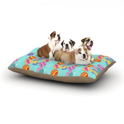 Jane Smith Vintage Playground III Dog Pillow with Fleece Cozy Top Size: Small (40 W x 30 D x 8 H)