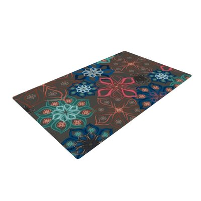 Jolene Heckman Floral Arrangements Flowers Brown Area Rug Rug Size: 4 x 6