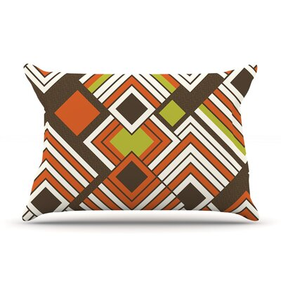 Jacqueline Milton Luca Pillow Case Color: Brown/Orange
