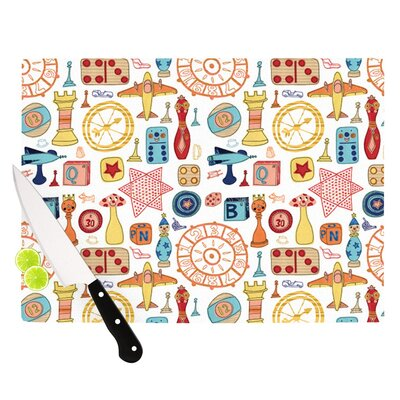 Vintage Games by Jane Smith Cutting Board Size: 0.5