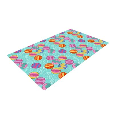 Jane Smith Vintage Playground III Teal/Pink Area Rug Rug Size: 4 x 6