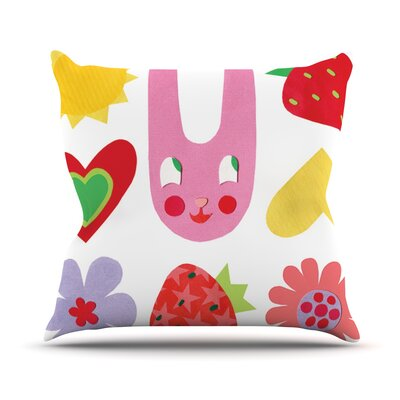Summer Repeat by Jane Smith Throw Pillow Size: 16 H x 16 W x 3 D