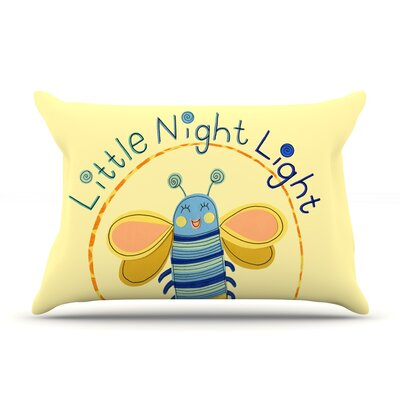 Little Night Bug by Jane Smith Featherweight Pillow Sham Size: King, Fabric: Woven Polyester