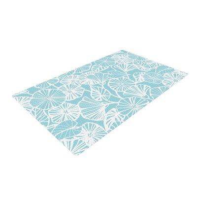 Jacqueline Milton Vine Shadow Floral Blue/Aqua Area Rug Rug Size: 4 x 6