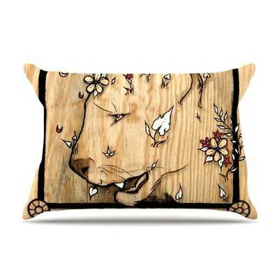Panther by Jennie Penny Featherweight Pillow Sham Size: King, Fabric: Woven Polyester