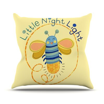 Little Night Bug by Jane Smith Throw Pillow Size: 18 H x 18 W x 3 D