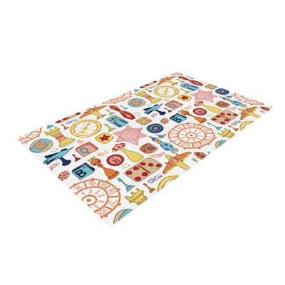 Jane Smith Vintage Games Orange/Yellow Area Rug