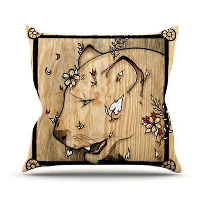 Panther Throw Pillow Size: 16 H x 16 W x 3.7 D