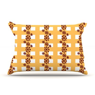Mushroom Repeat by Jane Smith Featherweight Pillow Sham Size: Queen, Fabric: Woven Polyester