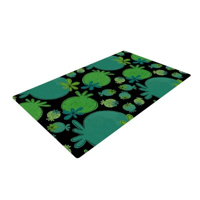 Jane Smith Garden Pods Green/Teal Area Rug