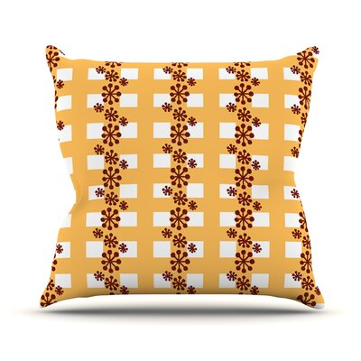 Mushroom Repeat by Jane Smith Throw Pillow Size: 26 H x 26 W x 5 D