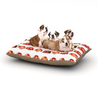 Jane Smith Garden Ladybugs Dog Pillow with Fleece Cozy Top Size: Small (40 W x 30 D x 8 H)