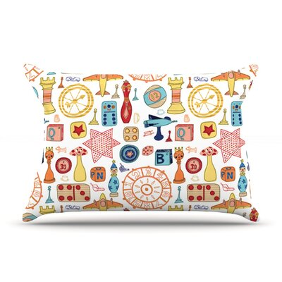 Vintage Games by Jane Smith Featherweight Pillow Sham Size: King, Fabric: Woven Polyester