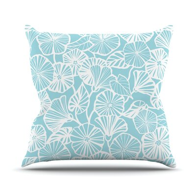 Vine Shadow by Jacqueline Milton Floral Throw Pillow Size: 20 H x 20 W x 4 D, Color: Aqua