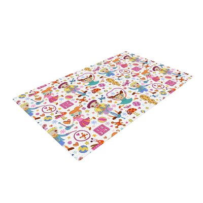 Jane Smith Vintage Playground IIII White/Rainbow Area Rug Rug Size: 2 x 3