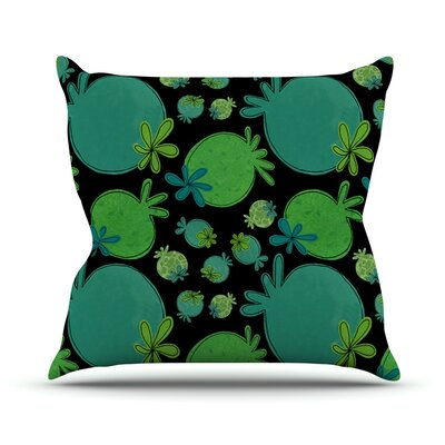 Garden Pods by Jane Smith Throw Pillow Size: 16 H x 16 W x 3 D