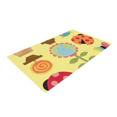 Jane Smith Spring Repeat Yellow Area Rug Rug Size: 2 x 3