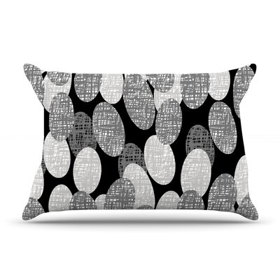 Seeds - Monochrome by Jacqueline Milton Featherweight Pillow Sham Size: King, Fabric: Woven Polyester