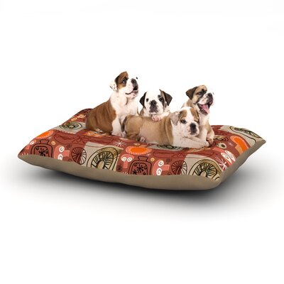 Jane Smith Vintage Kitchen Dog Pillow with Fleece Cozy Top Size: Small (40 W x 30 D x 8 H)