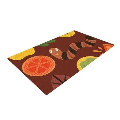 Jane Smith Autumn Repeat Bugs Brown Area Rug Rug Size: 4 x 6