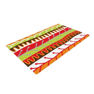 Jacqueline Milton Salsa Red/Orange Area Rug Rug Size: 4 x 6