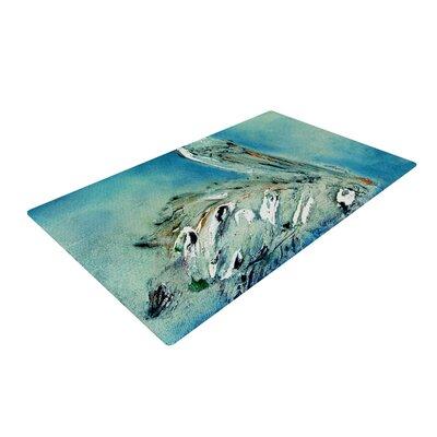 Josh Serafin Drifter Blue/Green Area Rug Rug Size: 2 x 3