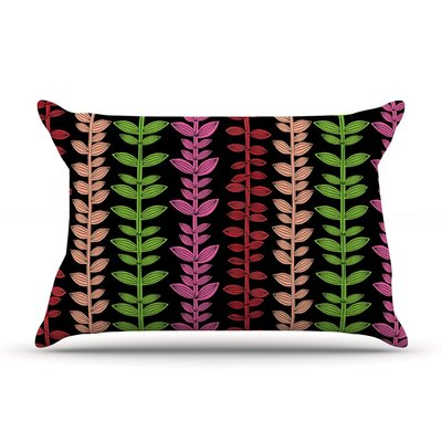 Garden Vine and Leaf by Jane Smith Featherweight Pillow Sham Size: King, Fabric: Woven Polyester