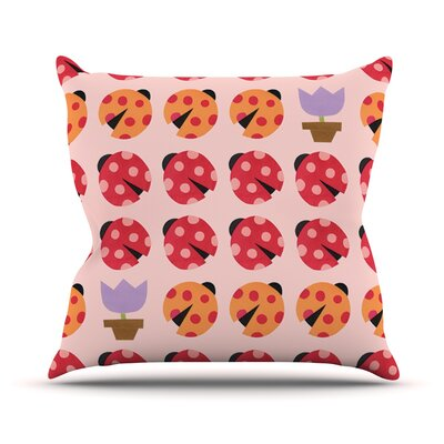 Seasons Spring by Jane Smith Throw Pillow Size: 26 H x 26 W x 5 D