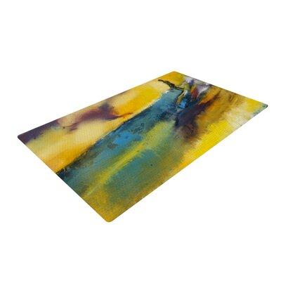 Josh Serafin Sano Surf Yellow Area Rug Rug Size: 4 x 6